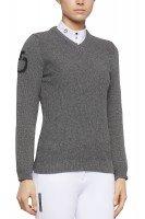 CT V-Neck Seed Stitch Sweater