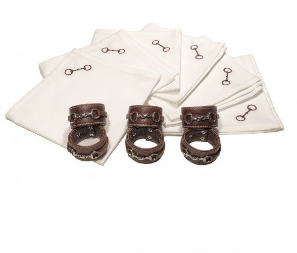 Serviettenringe Leather Bit (6er Set)