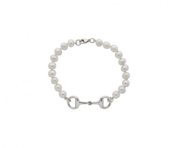 Snaffle Bit and Pearls Bracelet