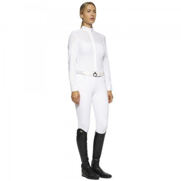 CT Damen Showshirt Textured Jersey Insert L/S