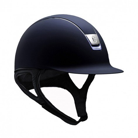 Samshield Reithelm Shadowmatt navy + chrome blue Trim + 5 Swarovski