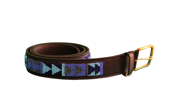 Beaded Belt Blue Passion