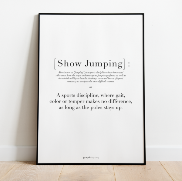 """Print """"Quote Showjumping"""""""