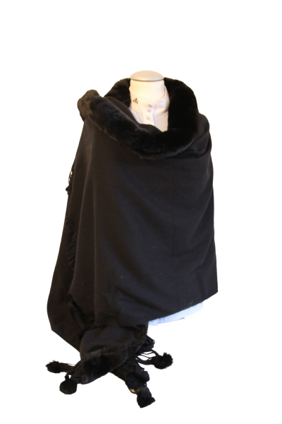 Poncho Set Black Luxury