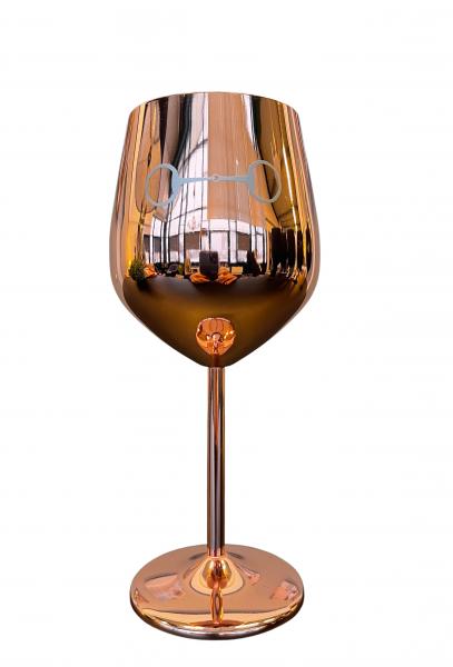 Traumpferd Weinglas Horse Bit Roségold